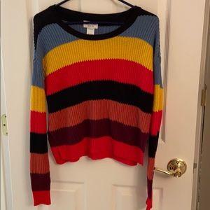 Arizona Jean Co. Striped Cropped Sweater